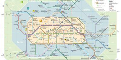 Berlin Mapa Mapy Berlin Nemecko